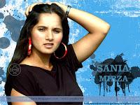 Sania Mirza Black Dress