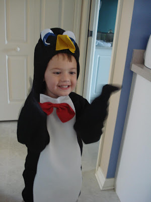 After one evening of wearing the penguin costume, Carson has decided that he