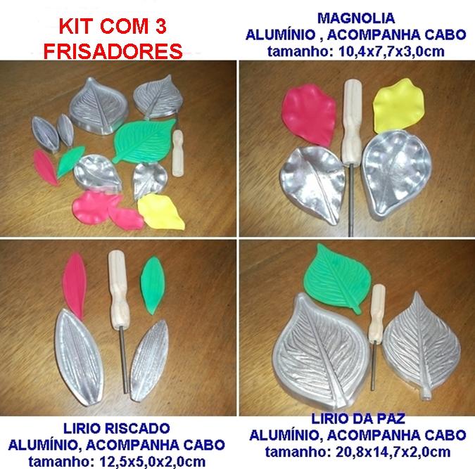 KIT COM 3 FRISADORES DE ALUMÍNIO, PARA FLORES A VENDA