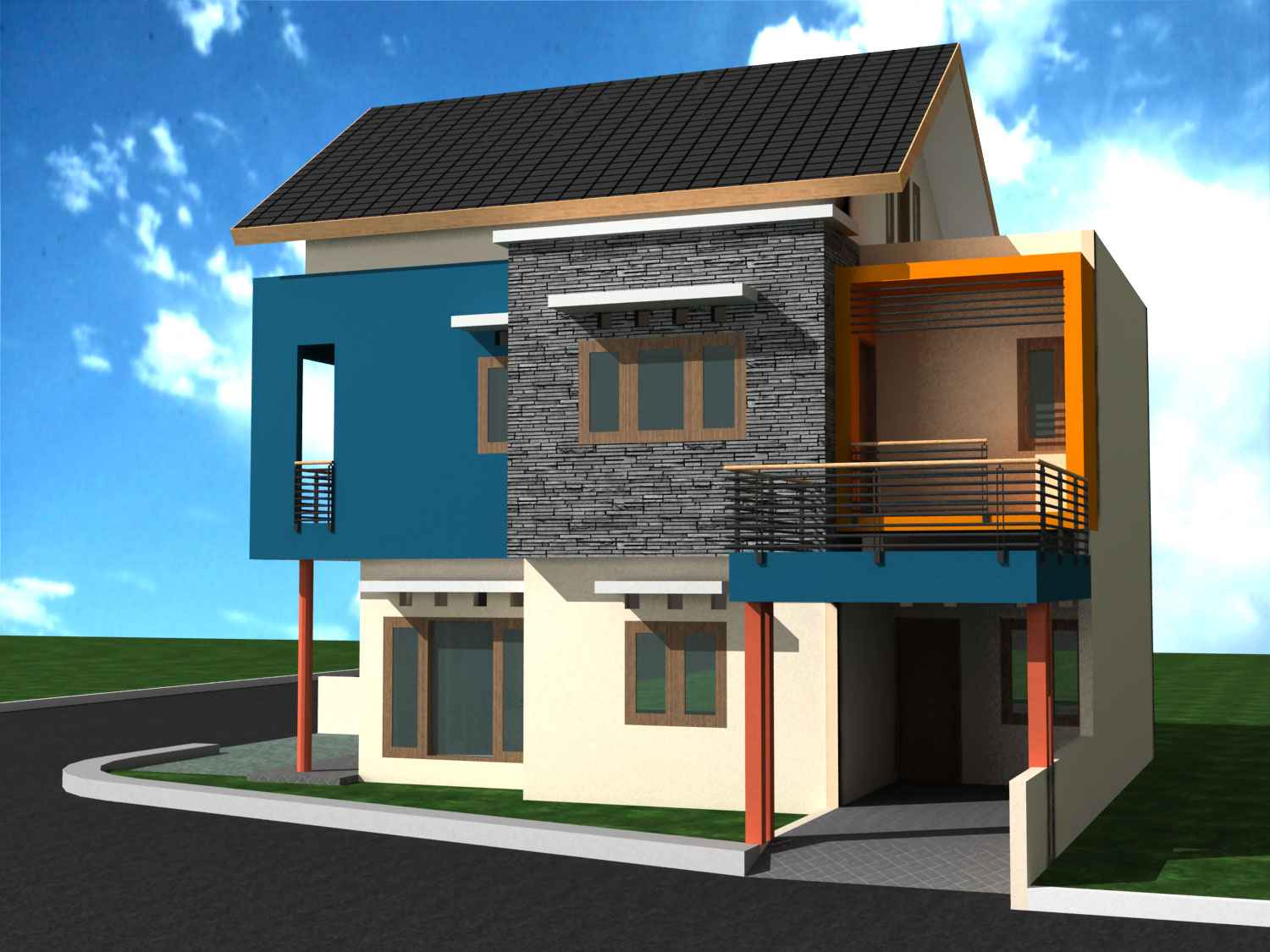 minimalist house design concept - Simple House Design With Second Floor