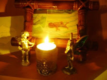 Michaels Candle and his special Place in our Home