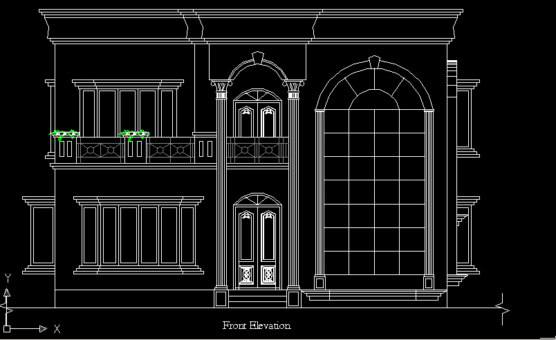 3d visual designs revised front elevation
