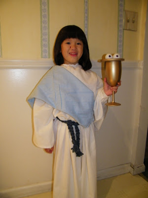 St Lucy of the Halloween costume