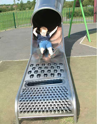 pic of a cool slide in the form of a cheese grater