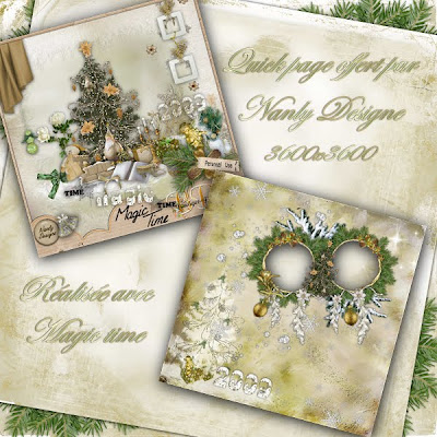 """Free scrapbook quick page """"Magic time"""" from Nanly Design - Full size"""