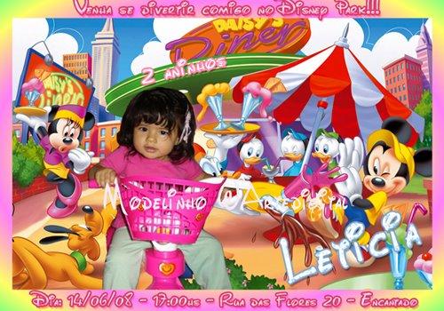 Convites Infantis disney
