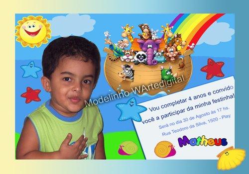 Convites Infantis Arca de Noé