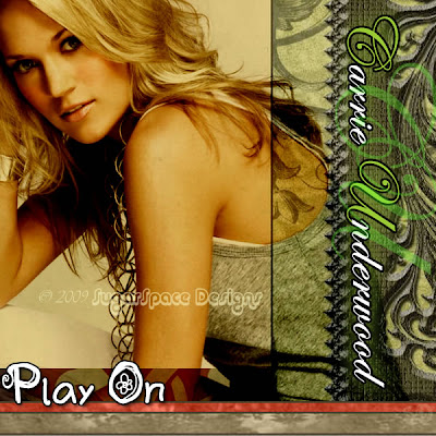 Carrie Underwood Play On Music Disc Cover
