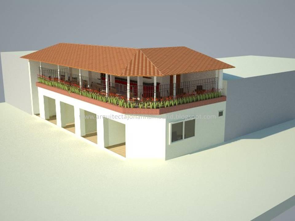 Arquitecta johanna madrid locales comerciales sobre cra for Planos de locales comerciales modernos