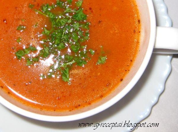 Jurgittos Receptai Pomidorinė Sriuba Su Ryžiais Turkiška Virtuvė