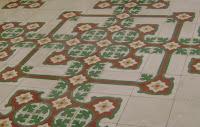 old maltese tiles - fractal looking pattern