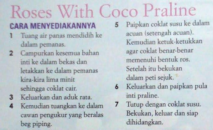 HOME MADE COKLAT: PRALINE COKLAT BENTUK ROSES