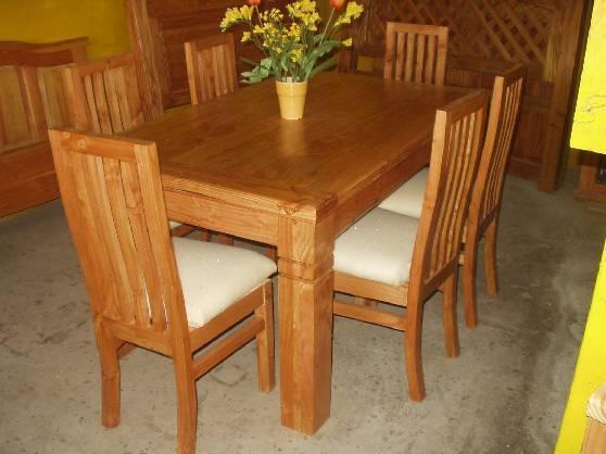 Arteysania comedores for Comedores de madera baratos
