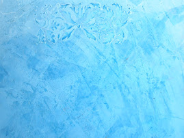 Estuco azul con dibujo