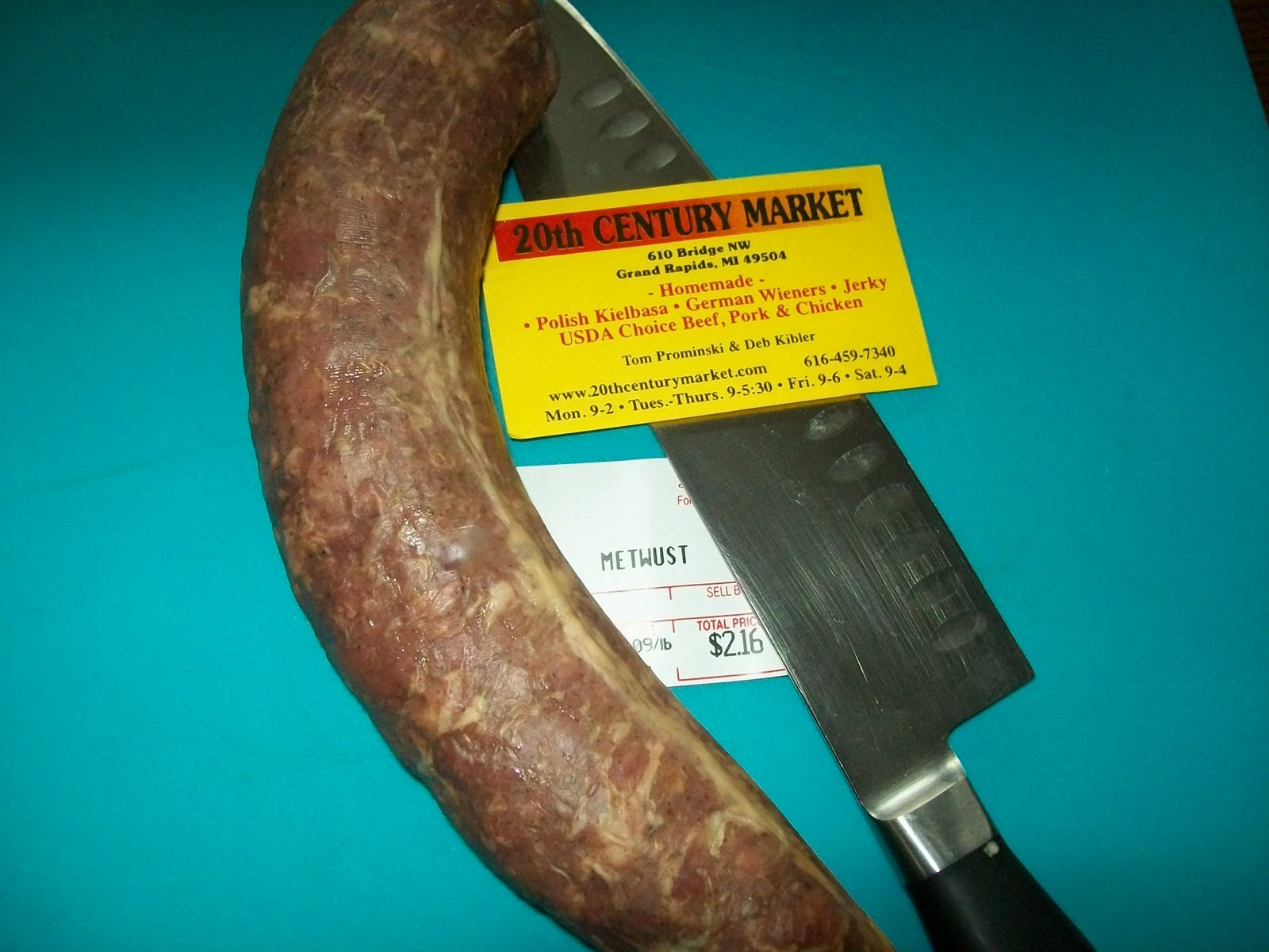 Michigan Cottage Cook: METTWURST--DUTCH SAUSAGE IN WESTERN MICHIGAN