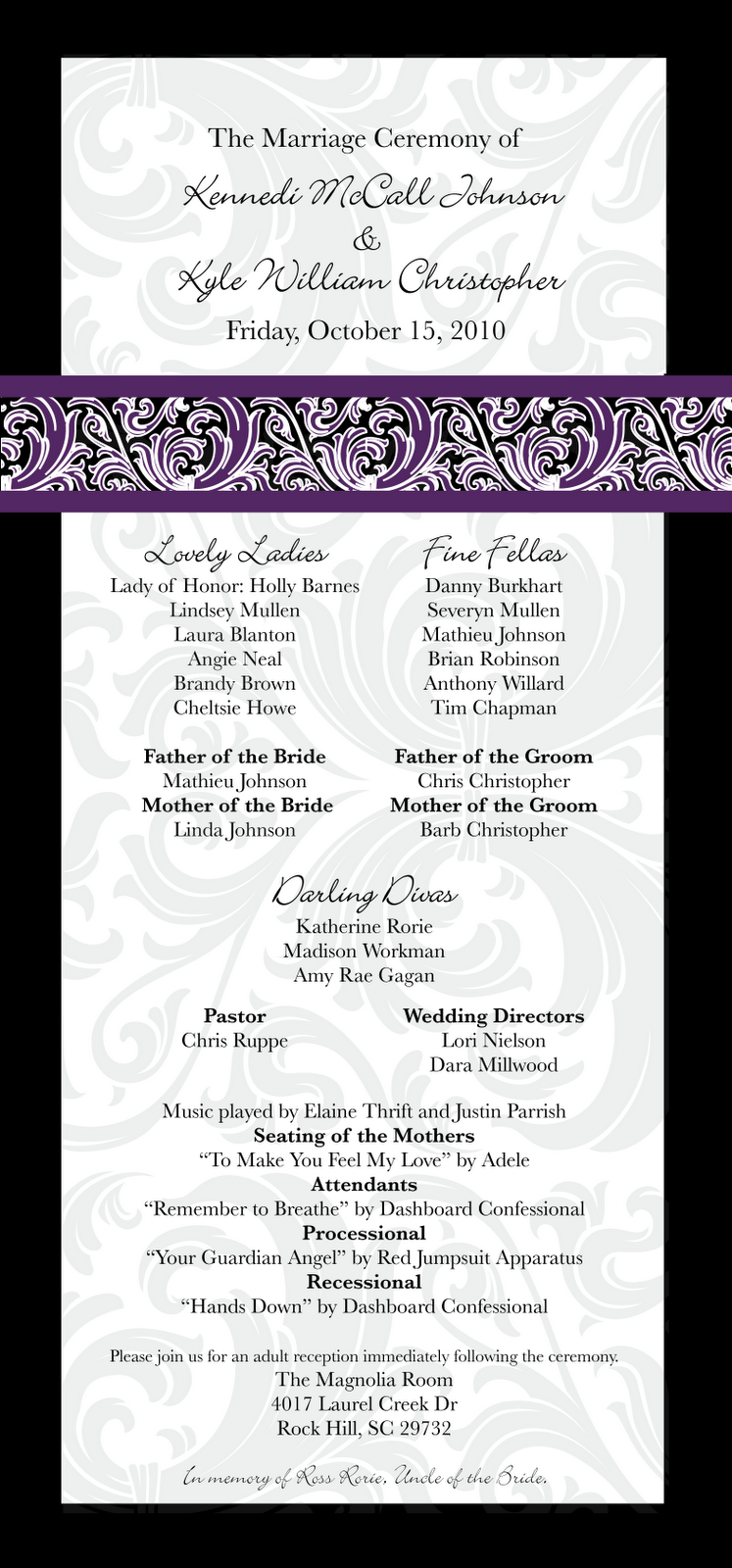 Graphically Ever After  Wedding Programs