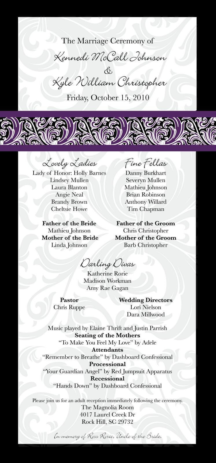 Http Graphicallyeverafter Blogspot Com 2010 08 Wedding Programs Html