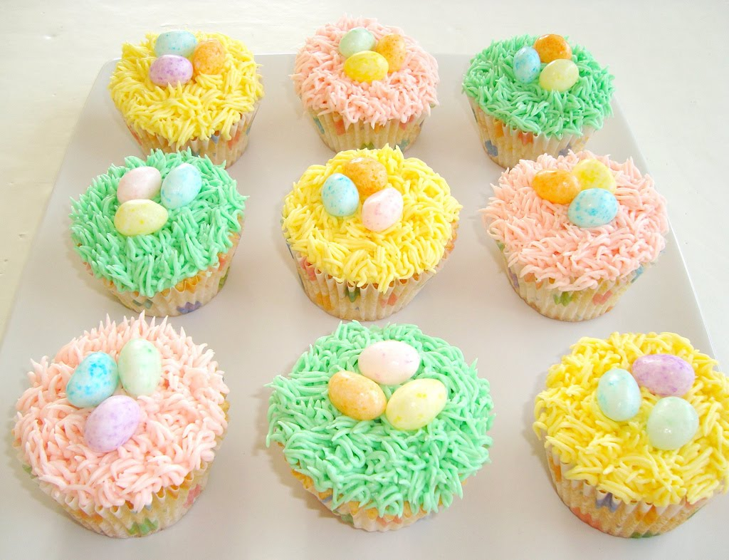 Paris Pastry: Easter Nest Cupcakes