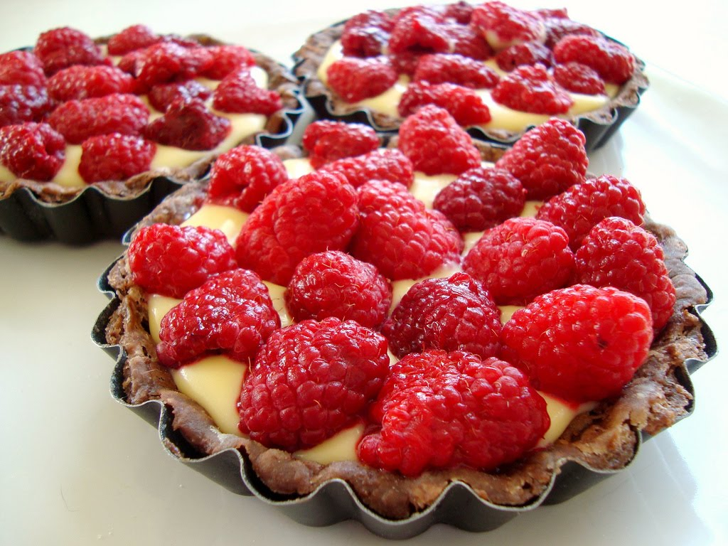 ... chocolate raspberry tarts that this would be a chocolate cream with