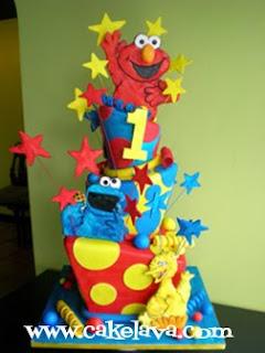 cakelava Sesame Street Birthday Cake Educational and FUN