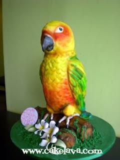 cakelava Sun Conure Bird Birthday Cake