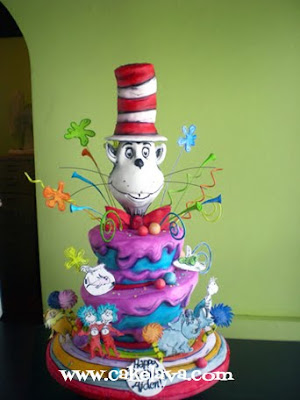 cat in hat cake decorations. Dr. Seuss Cat in the Hat Cake