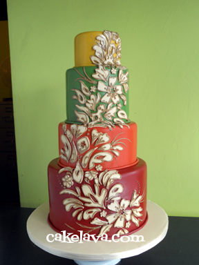 Wedding cakes fall colors