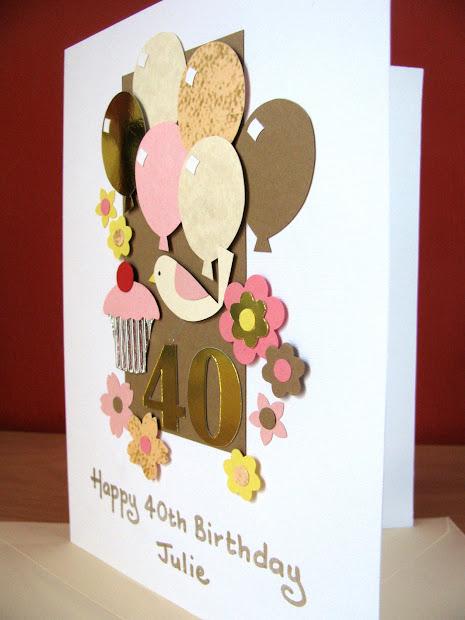 Handmade 40th Birthday Cards Men