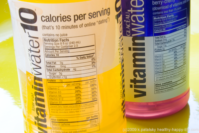 vitamin water sync nutrition facts