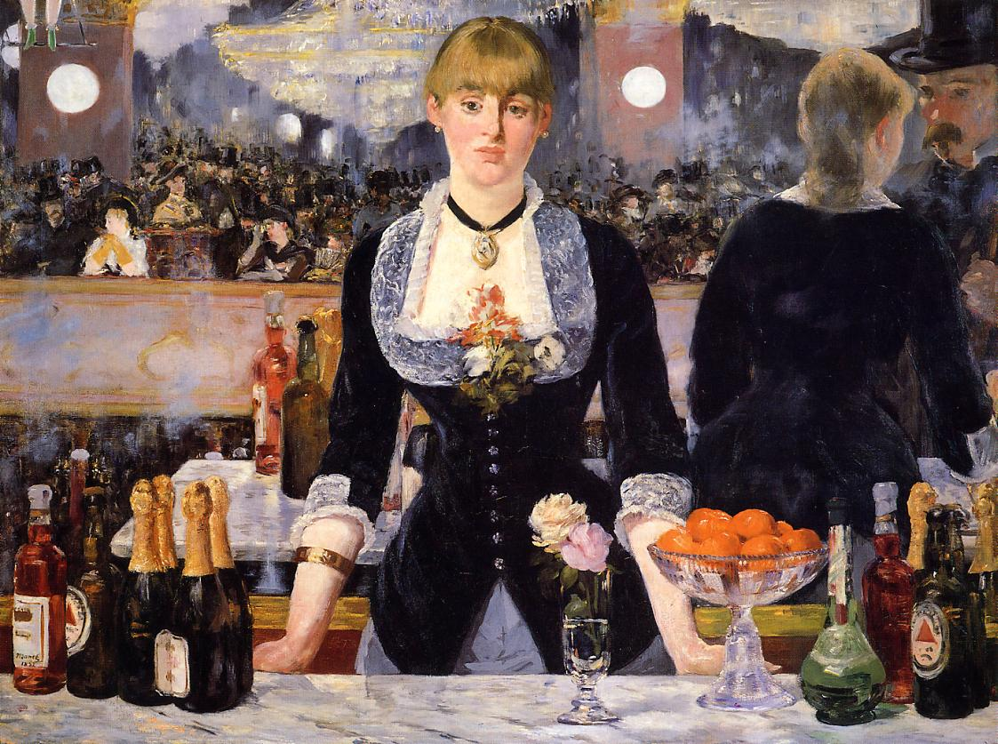 A Bar At The Folies Bergere Manet In 1863 a poet named Charles