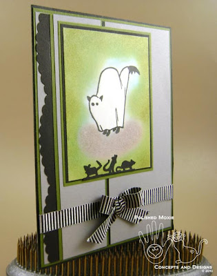 Picture of card set at an angle to show dimension on the front of the card