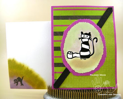 Picture of Halloween card and its coordinating envelope