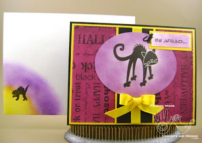 Picture of the Halloween card and its coordinating envelope