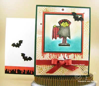 Picture of the vampire card and its coordinating envelope