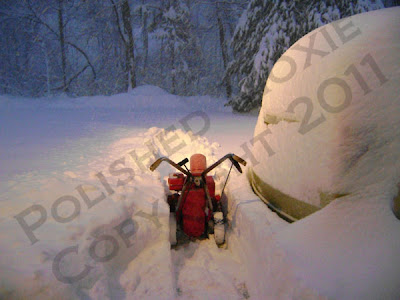 Picture of snow thrower during snowstorm