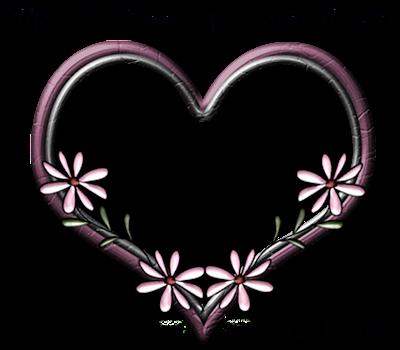 flower frame clipart. heart flower frame for you