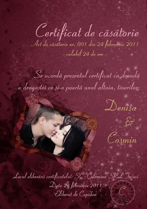 de certificate de casatorie temporara fotografiile cuplului sunt ...