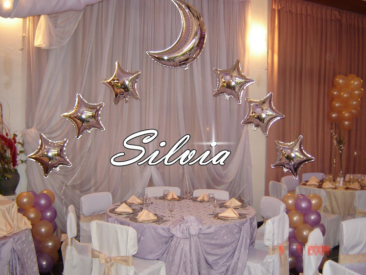 Silvia s d decoraciones con globos y telas - Decoracion con estrellas ...