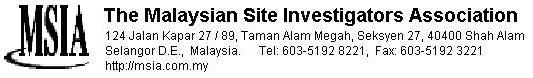 The Malaysian Site Investigators Association