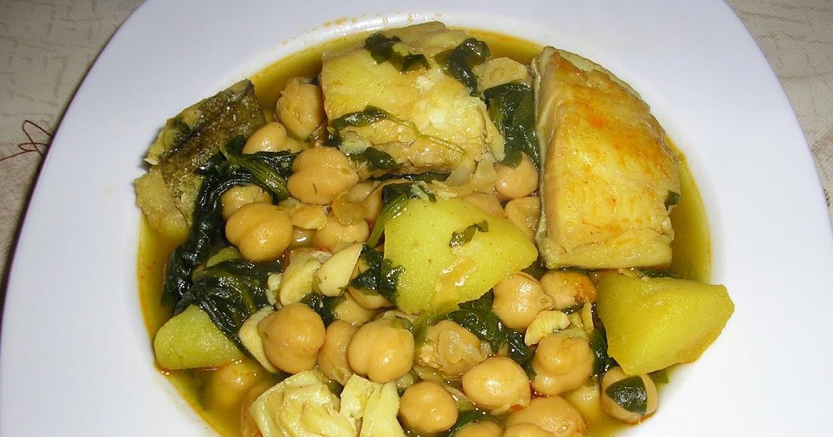 Recetas para no olvidar potaje de garbanzos con espinacas - Potaje con bacalao y espinacas ...