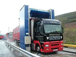 Vehicle washing machines and truck washing equipment provided by UK based Autowash Engineering Ltd.