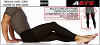 ActivSkin A876 Footless Full Support Male Tights