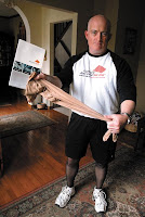 Steve Newman shows ActivSkin Mens Legwear product