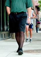 Sheer black legwear not an unheard of site in Columbus' Short North Area (Steve Newman/ActivSkin)