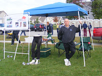 Steve Newman manned the ActivSkin tent at the Hilliard Darby-hosted MMOC