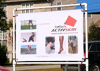 ActivSkin's banner illustrates athletics benefits, as well as general wear