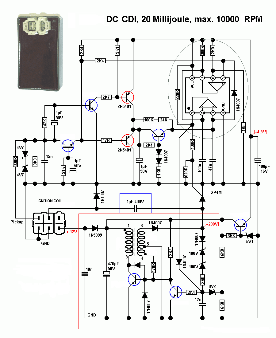 Dc Cdi on yamaha motorcycle schematics