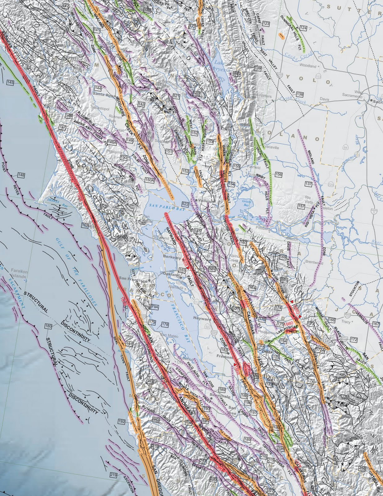State Geologists News Media Lauds California39s New Fault Map