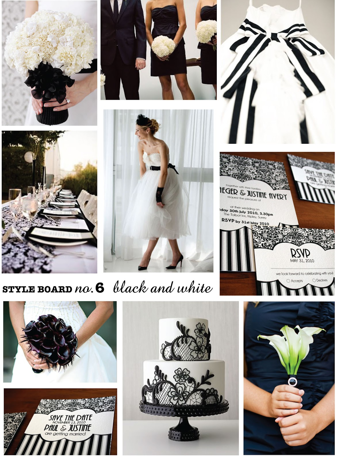 Black And White Damask Wedding Decorations