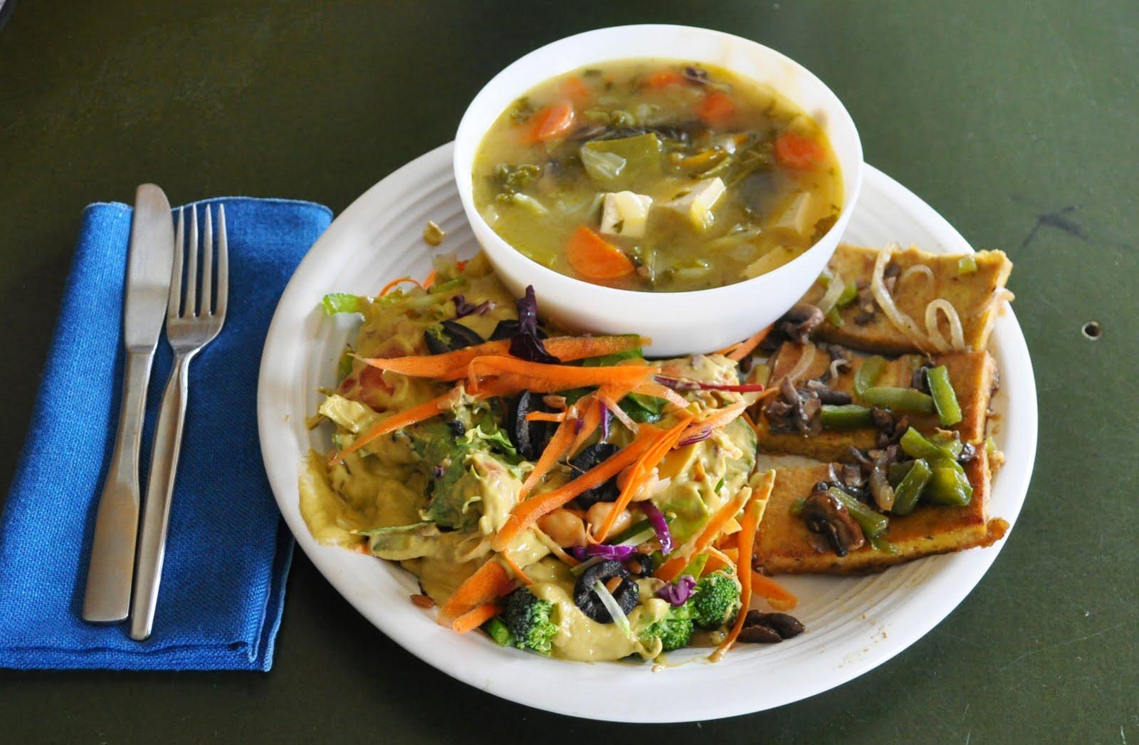 Café VegNews: Miso Soup with Tofu Steak